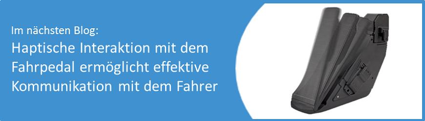 AB Elektronik GmbH, Blog, Gaspedal, haptisch, Fahrpedal, Kommunikation mit dem Fahrer