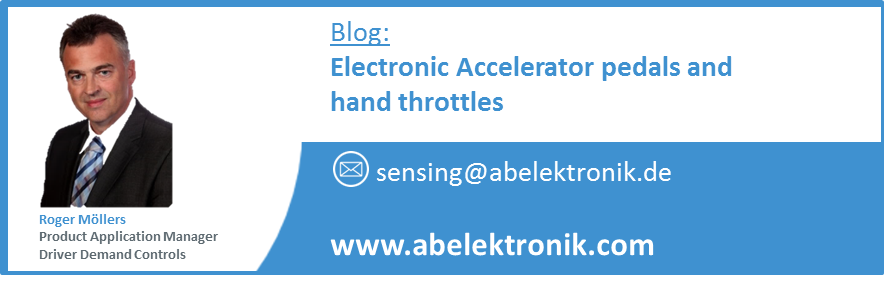 Electronic Accelerator pedals and hand throttles contactless technologies blog roger moellers